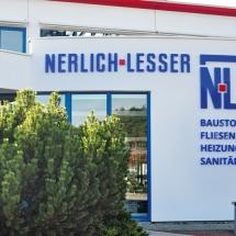 Fassadenbeschriftung Nerlich & Lesser